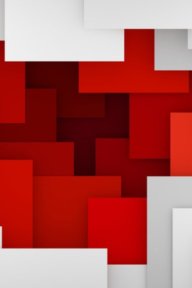 Artistic Geometry Red White I2 Wallpaper 640 x 960 380x570