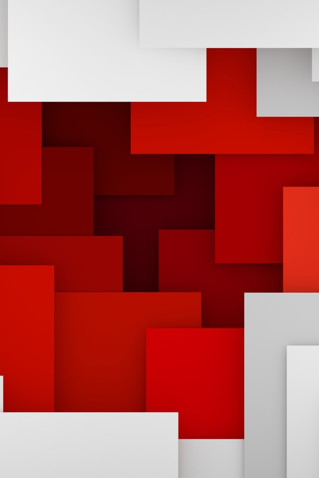 Artistic Geometry Red White I2 Wallpaper 640 x 960