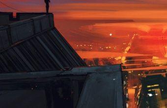 Artistic Red City Jm Wallpaper 640 x 960 340x220