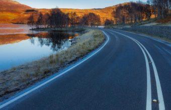 Asphalt Road Landscape 4m Wallpaper 640 x 960 340x220