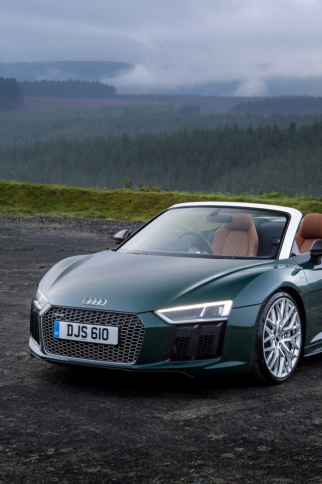 Audi R8 Spyder V10 Plus 2017 C3 Wallpaper 640 X 960