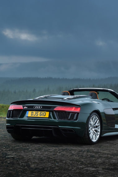 Audi R8 Spyder V10 Plus Rear 2017 5l Wallpaper 640 x 960 380x570