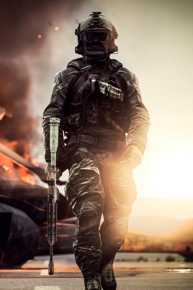 Battlefield 4 Solider 8l Wallpaper 640 x 960