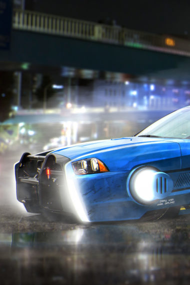 Blade Runner Spinner Dodge Charger Police Car 21 Wallpaper 640 x 960 380x570