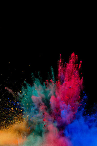 Colorful Powder Explosion Nj Wallpaper 640 x 960 380x570