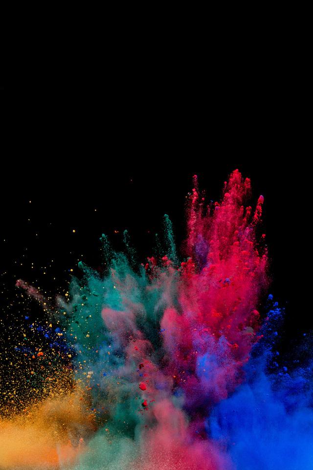 Colorful Powder Explosion Nj Wallpaper 640 X 960 380x570