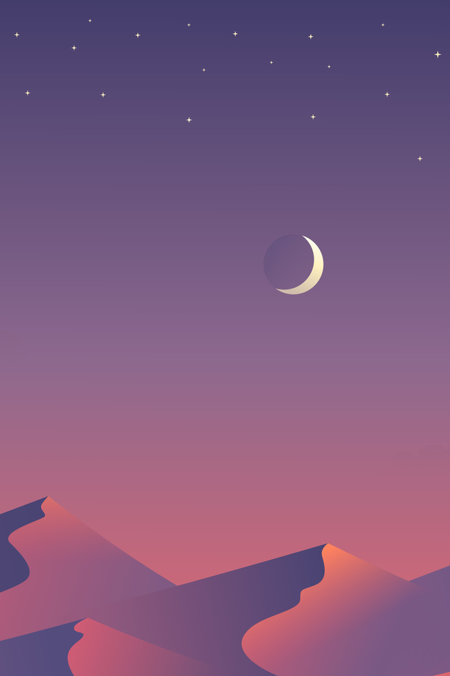 Desert Nights Moon 8n Wallpaper 640 x 960