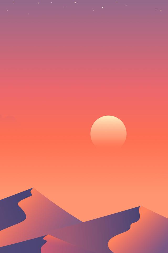 Desert Sun Day Minimalism 1a Wallpaper 640 x 960