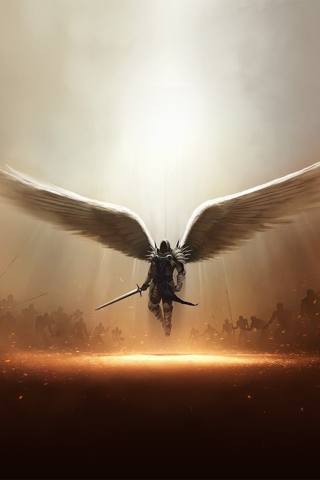 Diablo 3 Tyrael Archangel Of Justice 8y Wallpaper 640 x 960