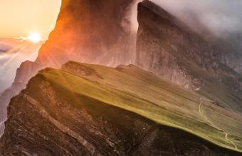 Dolomites Mountain Range Sony Bravia Tv Original Oled Xb Wallpaper 640 x 960 340x220