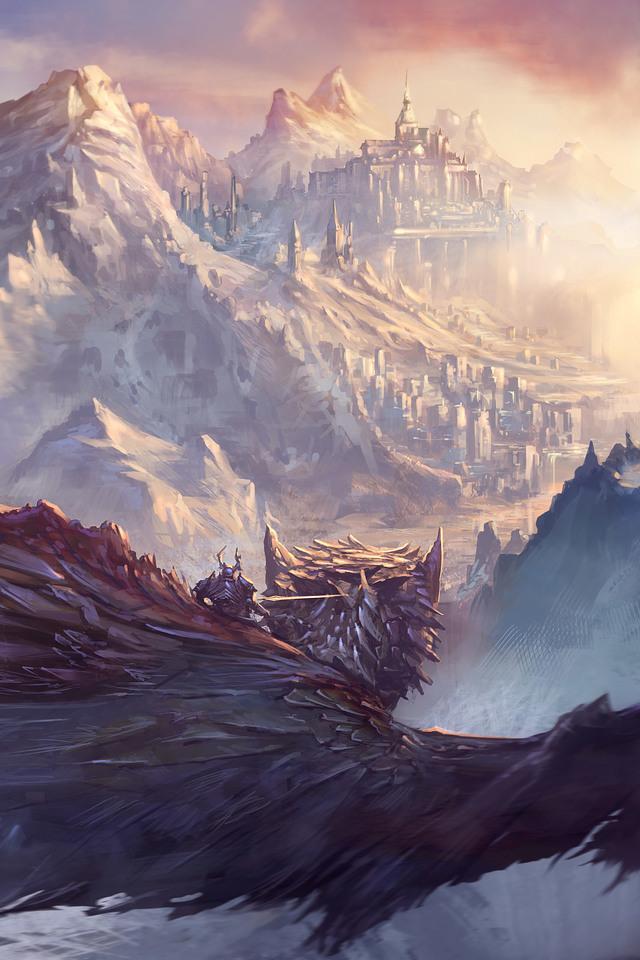 Dragon Fantasy Artwork Gc Wallpaper 640 x 960