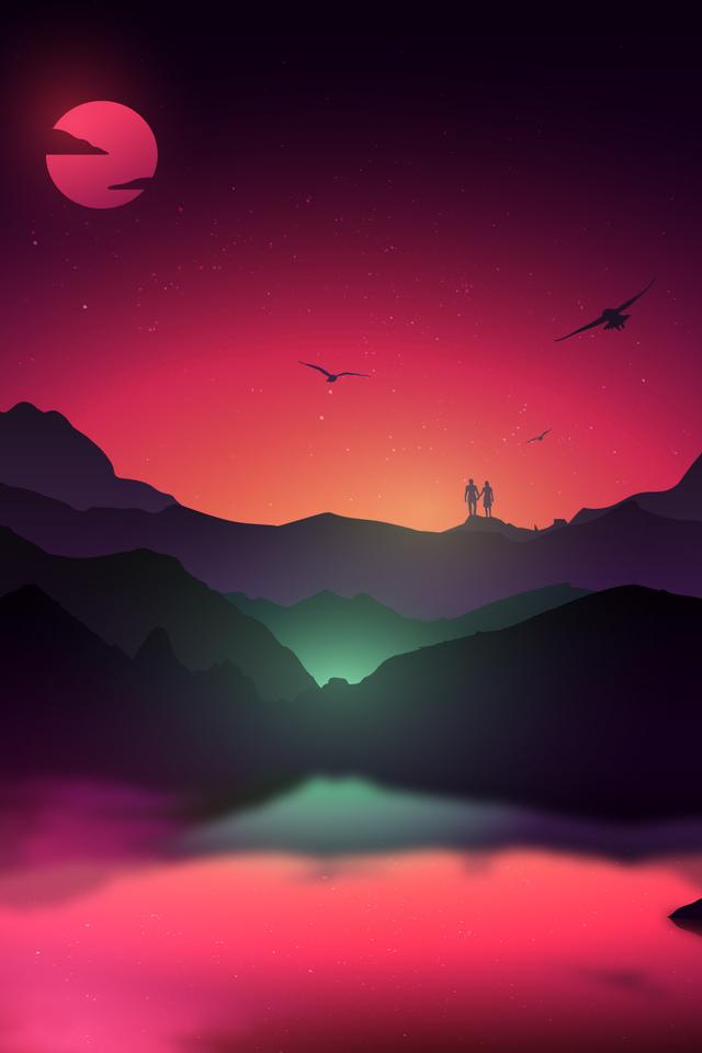 Fantasy Landscape Dk Wallpaper 640 x 960