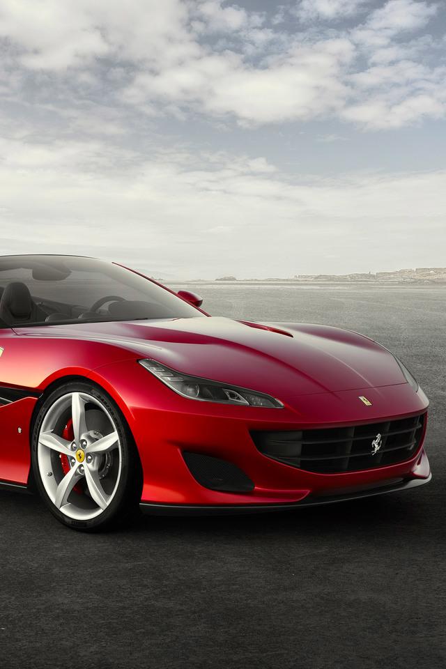 Ferrari Portofino 0o Wallpaper 640 x 960