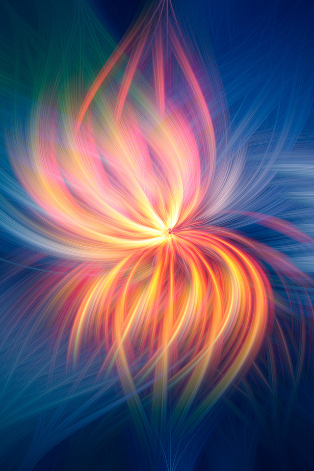 Fireflower Abstract L7 Wallpaper 640 x 960