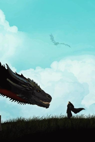 Jon Snow And Khalessi Dragon Artwork 9d Wallpaper 640 x 960 380x570