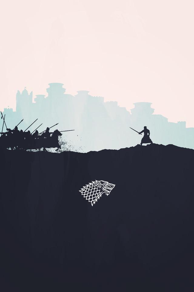 Jon Snow Minimalism New Wallpaper 640 X 960