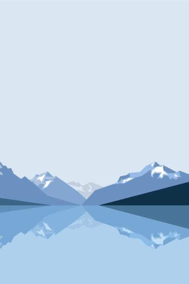 Minimalist Blue Mountains 2x Wallpaper 640 x 960 380x570