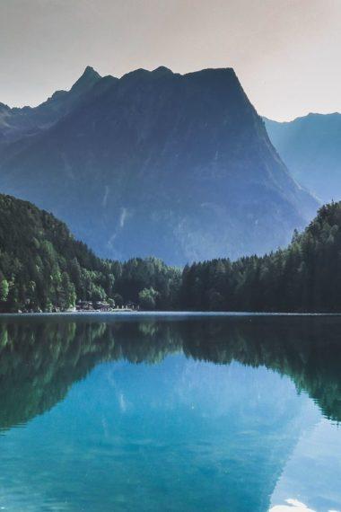 Mountains Lake Reflection Sl Wallpaper 640 x 960 380x570