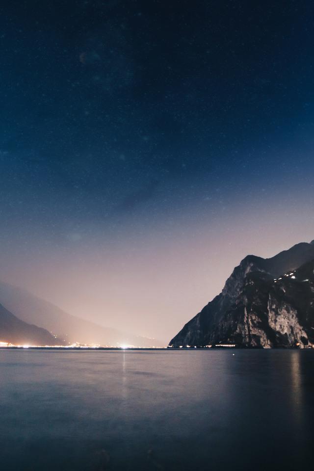 Mountains Night Sea F5 Wallpaper 640 x 960 340x220