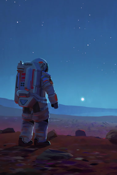 Scifi Astronaut Space Mars Is Wallpaper 640 x 960 380x570