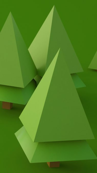 3d Trees Digital Art 43 Wallpaper 2160x3840 380x676