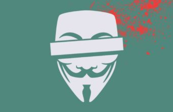 Anonymous Blood Mask Vector Splashes 340x220