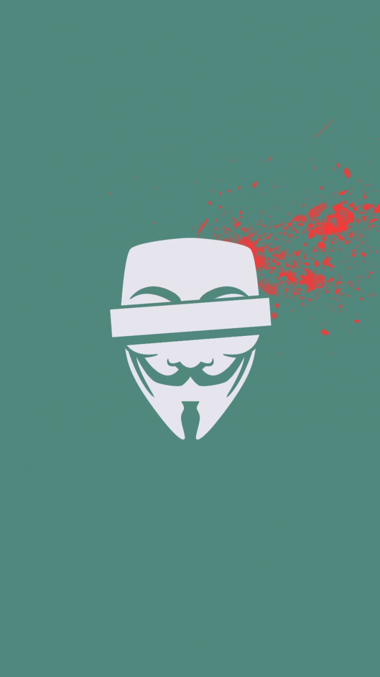Anonymous Blood Mask Vector Splashes