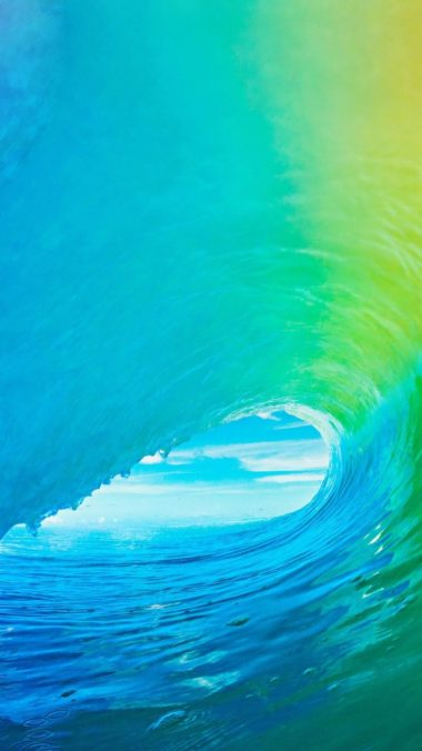 Apple Ios9 Official Apple Wave Wallpaper 720x1280 380x676