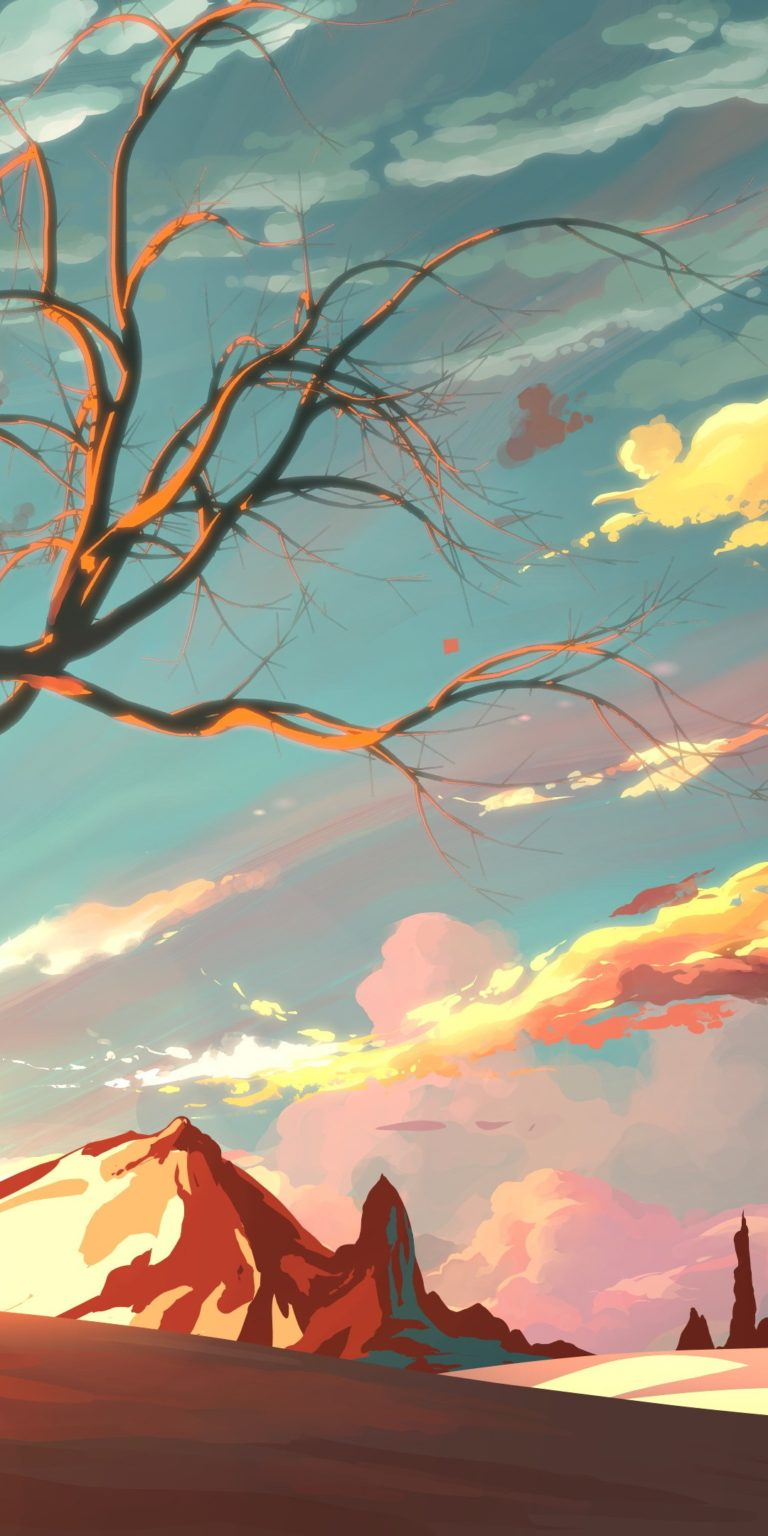 Artistic Landscape Wallpaper 1080x2160 768x1536