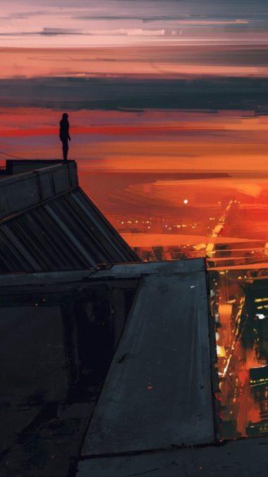 Artistic Red City Jm Wallpaper 1080x1920 380x676
