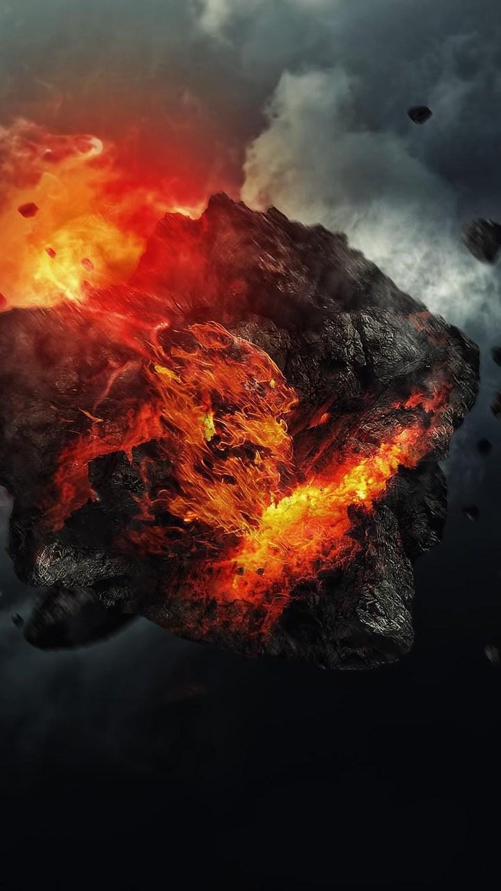Asteroid Art Wallpaper- [720x1280]