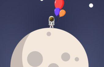 Astronaut Minimalism Wide Wallpaper 1080x1920 340x220