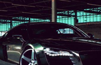 Audi R8 Chrome Cw 5 Matte Black Side View 340x220