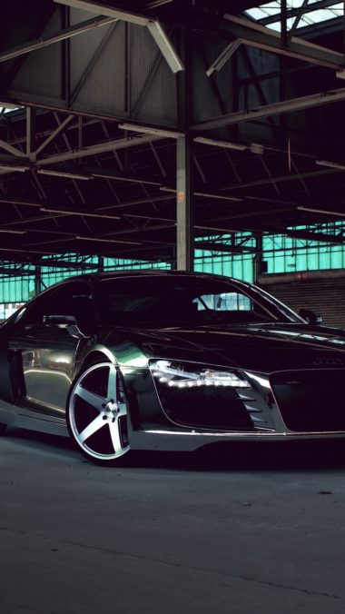 Audi R8 Chrome Cw 5 Matte Black Side View 380x676