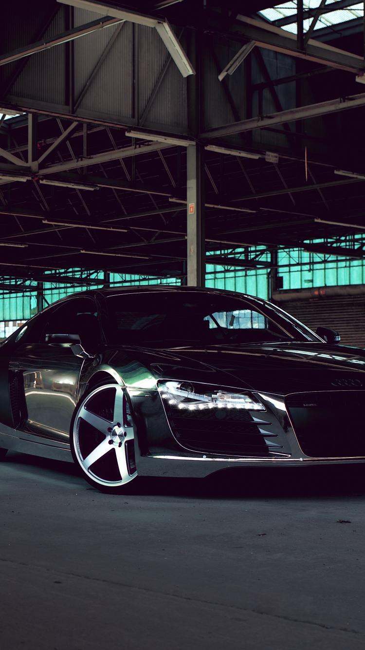 Audi R8 Chrome Cw 5 Matte Black Side View
