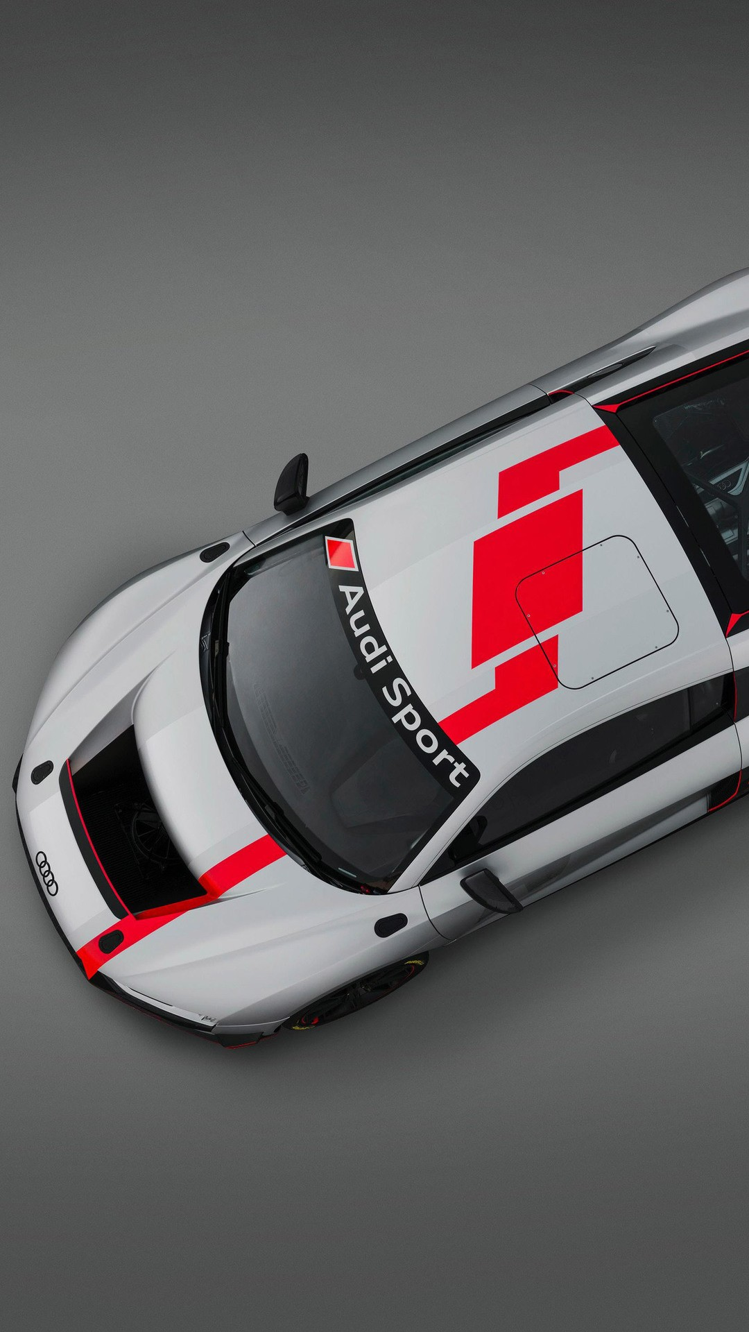 Audi R8 Lms Gt4 Top View Qhd Wallpaper 1080x1920