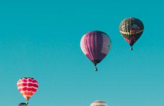 Balloons Flight Sky Wallpaper 2160x3840 340x220