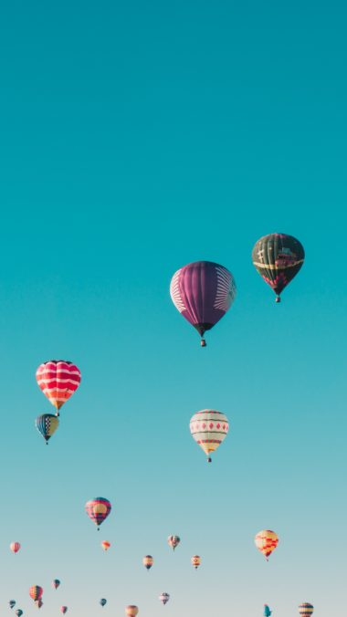 Balloons Flight Sky Wallpaper 2160x3840 380x676