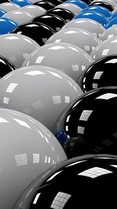 Balls Rows White Blue Black 380x676