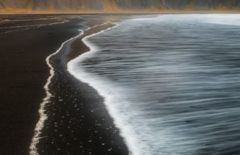 Beach Foam Iceland Mountain Nature T0 Wallpaper 2160x3840 340x220