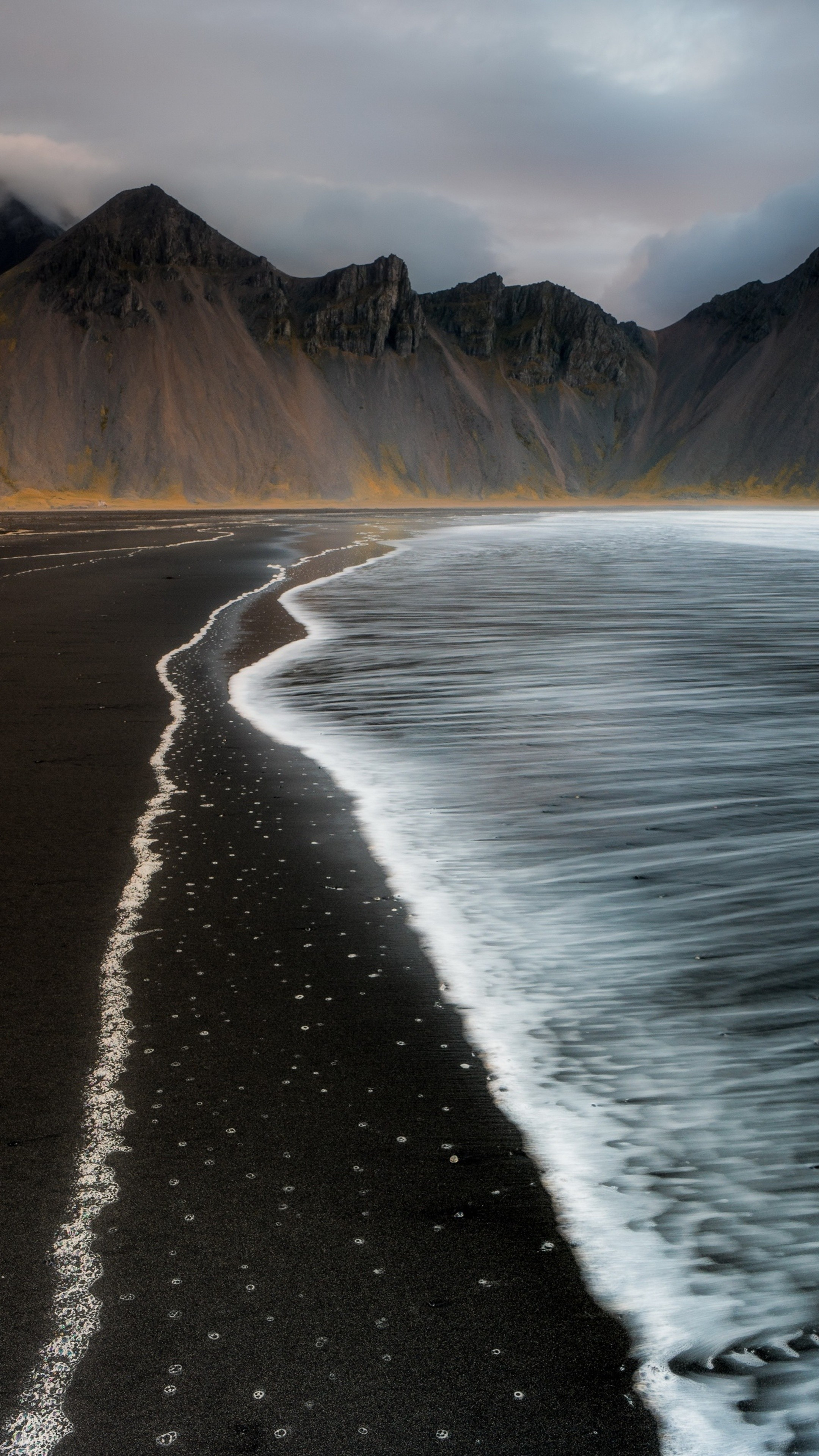 Beach foam iceland mountain nature t0 wallpaper 2160x3840 - 2160x3840 wallpaper ...