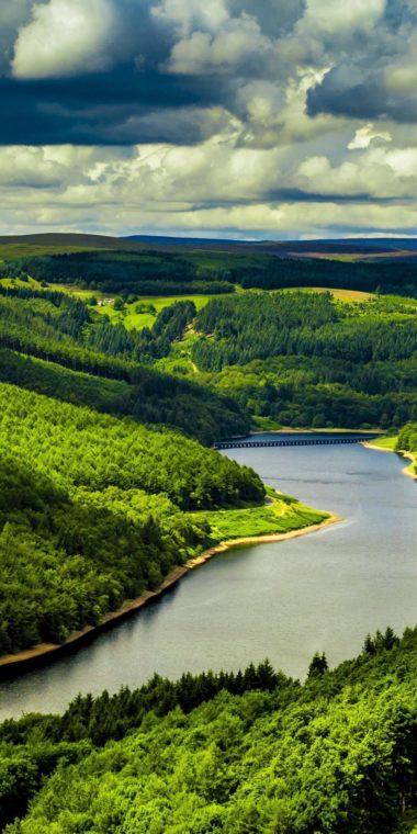 Beautiful River Mountains Wallpaper 1080x2160 380x760