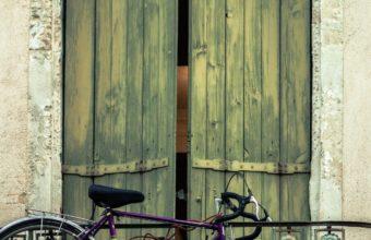Bicycle Balcony Door Wall Wallpaper 2160x3840 340x220