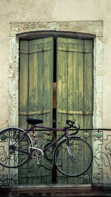 Bicycle Balcony Door Wall Wallpaper 2160x3840 380x676