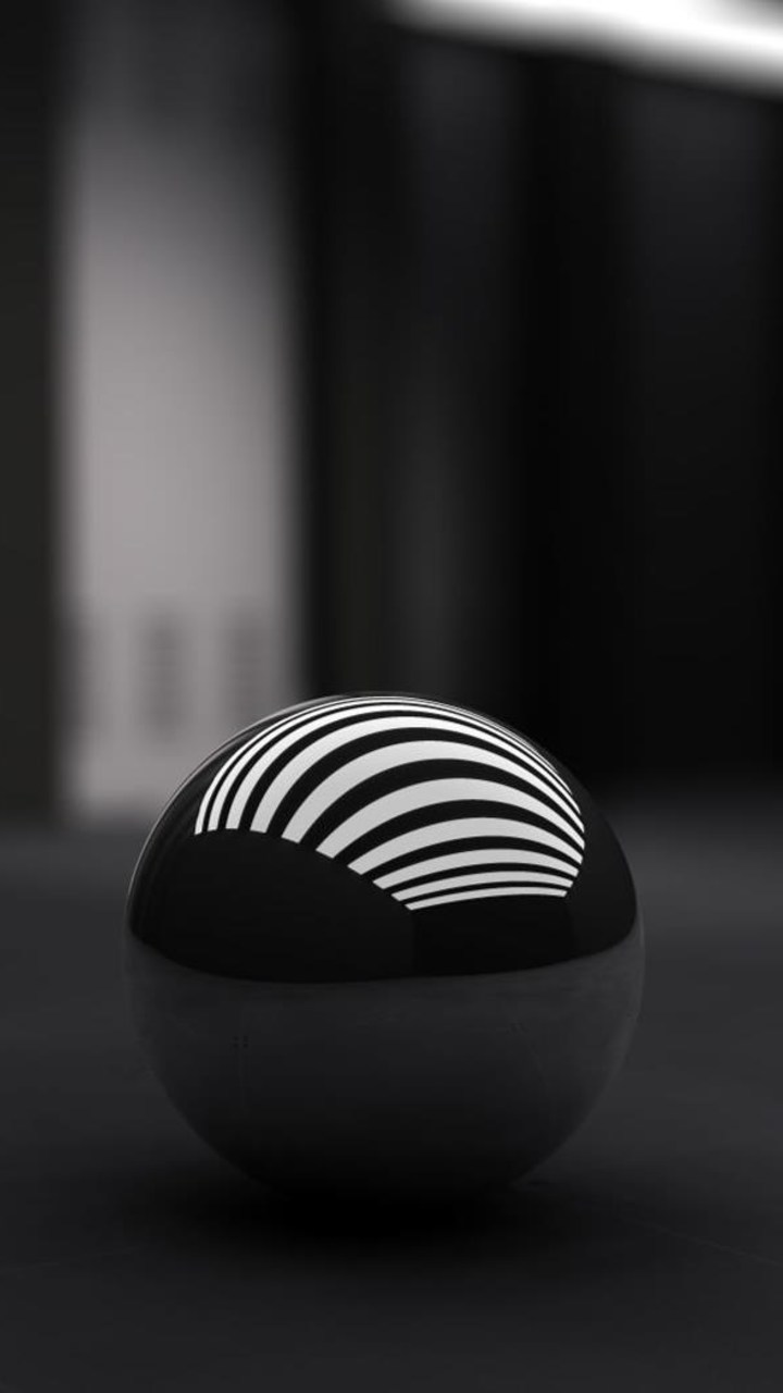 Black Ball With White Bands Wallpaper 720x1280
