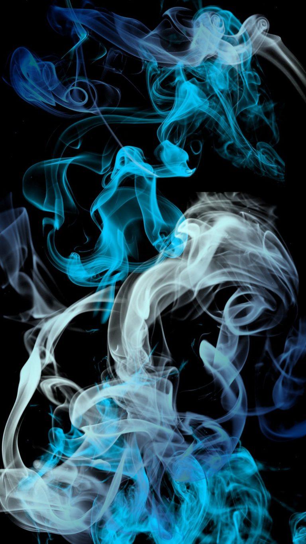 Blue Grey Smoke Wallpaper 1080x1920 768x1365