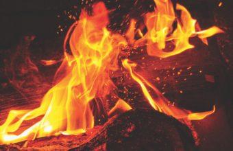 Bonfire Fire Flames Sparks Wallpaper 2160x3840 340x220