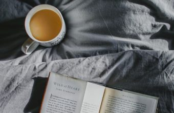 Book Coffee Bed Shadow Wallpaper 720x1280 340x220