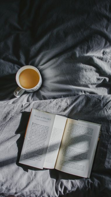 Book Coffee Bed Shadow Wallpaper 720x1280 380x676