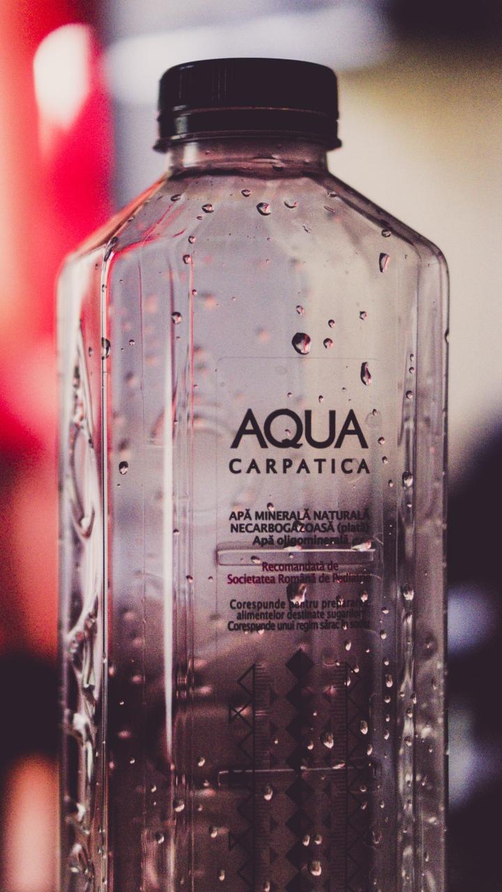 Bottle Water Drops Wallpaper 720x1280